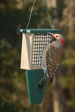 SUET BIRD FEEDER with TAIL PROP, Holds Standard Size Suet & Seed Cakes FREE SHIP