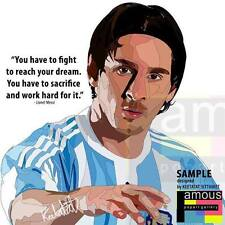Lionel Messi canvas quotes wall decals photo painting framed pop art poster