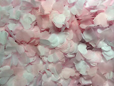Biodegradable Wedding Confetti Light Pink & White Hearts - Lg Bag Eco Friendly