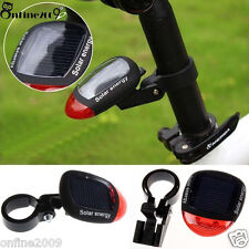 Solar Powered LED Rear Flashing Tail Light for Bicycle Cycling Lamp Safety  q