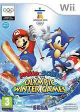 MARIO & SONIC AT THE OLYMPIC WINTER GAMES=Wii=Ski Jump+Cross+Curling=SIN MANUAL