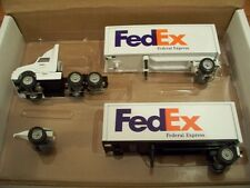FED EX DOUBLES TRACTOR TRAILER DIECAST WINROSS TRUCK