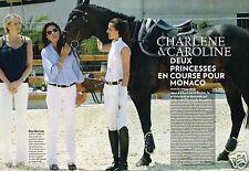 Coupure de Presse Clipping 2009 (6 pages) Charlène Wittstock Caroline de Monaco