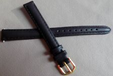 Ladies Timex Black Padded Genuine Leather Calf 11mm LONG Watch Band Strap $9.95