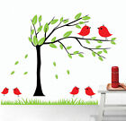 Cute Birds Tree Branch Wall Art Nursery Decal Stickers Removable Kids Home Decor