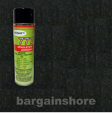 15ftx4ft Black  Liner Speaker Box Carpet +1 CAN  777  instant tack GLUE adhesive