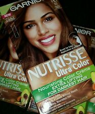 9 New Garnier Nutrisse Ultra Hair Color HL1 Bright Toffee For Darker Hair