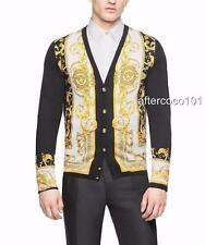 Versace Mens Barocco Iconico silk cardigan IT48 NEW AUTH shirt