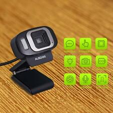 AUSDOM HD 1080P USB 3.0 Webcam Web Camera W microphone Black for PC Laptop