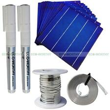 80 Pieces 6x6 in 156x156mm Solar Cell Cells + DIY Kits T-B Wire Flux Pen for Lab