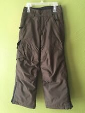BOY 8 COLUMBIA Olive Green/Brown WATERPROOF SNOW PANTS SKI