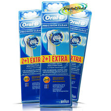 3x Oral-B Precision Clean 3 Toothbrush Heads Triumph Vitality AdvancePower