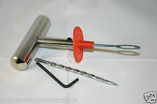 "Heavy Duty Tyre Rasp String Inserting Tool For Quick Tyre Repairs 4"" Needle"