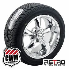 """17x7/17x9"""" Retro Staggered Polished Wheels Rims Tires for Dodge Charger 66-78"""