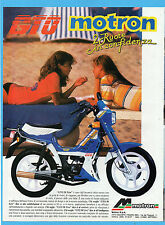 MOTOSPRINT987-PUBBLICITA'/ADVERTISING-1987- MOTRON GTO 50 LIVE