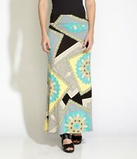 Karen Kane SOUTH BEACH Collage Print Pull-On Stretch Jersey Maxi Skirt, XS - $98