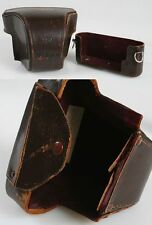 NIKON F CAMERA CASE FITTED BROWN LEATHER VINTAGE.