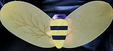 NWT CHILDS PRE-TEEN TEEN ADULT GIRLS BUMBLEBEE GLITTER WINGS  HALLOWEEN