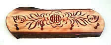 Wooden coat  Rack 4 peg  Hanger, Carved flowers ,Country Style home decor