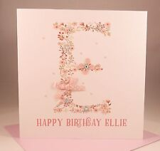 PERSONALISED GIRLS A to Z Birthday Card, Daughter Granddaughter Sister Niece