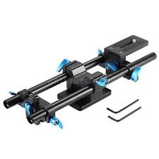 15MM Rail Rod Support System Baseplate Mount for Follow Focus Rig All DSLRs M5R2