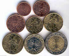 manueduc  FRANCIA  1999  Las  8 Monedas  Euro NUEVAS