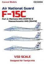Caracal Decals 1/32 MCDONNELL DOUGLAS F-15C EAGLE Air National Guard Part 2