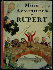Book - 1937 More Adventures Of Rupert 1st Edition Not Facsimile Edition