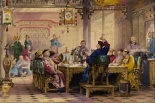 524070 Dinner Party At A Mandarins House Thomas Allom A4 Photo Print
