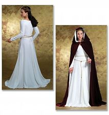 BUTTERICK SEWING PATTERN 4377 MISSES MEDIEVAL GOWN & CAPE COSTUMES SIZES 6 - 12