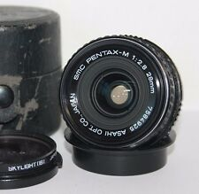 SMC Pentax-M 28mm F2.8 K / pk  mount Wide Angle Manual Prime Lens