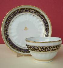 New Hall Porcelain Teabowl & Saucer Spiral Fluted P 554 c1800