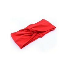 New Womens Turban Knot Knotted Camouflage Hair Band Casual Sports Headband Red