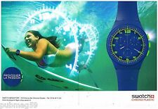 Publicité Advertising 2012 (2 pages) La Montre Swatch Chrono Plastic