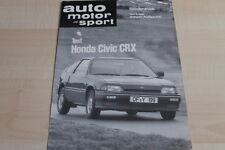 SV0962) Honda CRX 100PS TEST - AMS Sonderdruck 06/1984