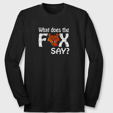 What Does The Fox Say? You Tube Dance T-shirt Funny Norwegian Long Sleeve Tee