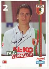 FOOTBALL carte joueur PETER VERHAEGH équipe FC AUGSBURG signée