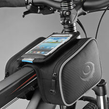 "NEW Roswheel Cycling Bicycle Front Top Tube Frame Double Bag for 5"" Cell Phone"