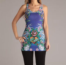 Ed Hardy Ladies Attractive Rose Print Tunic in Size M