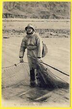 cpa NORMANDIE Scènes et Types PÊCHEURS des CÔTES Filet de Pêche Fisherman
