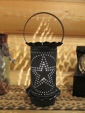 **Primitive Country Rustic Large Punched Tin Electric Wax Warmer -Blue Star!!**