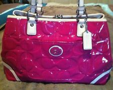 100% GENUINE COACH Pink Bag Patent Leather Bnwt Rrp $675 STUNNING Rare