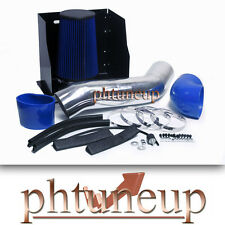 BLUE 2003-2007 HUMMER H2 6.0 6.0L HEATSHIELD COLD AIR INTAKE KIT SYSTEMS