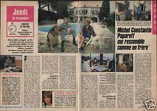 Coupure de presse Clipping 1988 Michel Constantin  (2 pages)