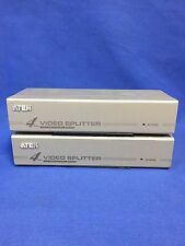 Lot of 2 ATEN 4 port VGA Video Splitter/Booster VS94A Switch 4-Port
