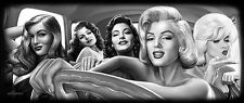 DGA Marilyn Monroe Stretched Canvas Framed Wall Art 16x40 Inches Bombshells