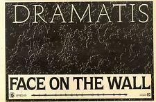 """6/2/82PGN08 SINGLE ADVERT 7X11"""" DRAMATIS : FACE ON THE WALL"""