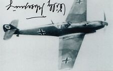Knights Cross Luftwaffe Battle of Britain Willy Tscherning WWII SIGNED PHOTO