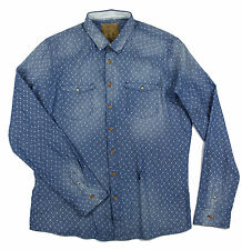 Pearly King - Indigo Twill Shirt - Size: XL - RRP£70 *NEW WITH TAGS*