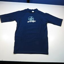 LOCAL MOTION RASH GUARD WET SUIT SURF SURFER SURFING JERSEY SHIRT Sz XL Blue
